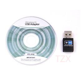 Wholesale Wi Fi Usb Receiver - Wholesale- Mini USB WiFi Adapter 300Mbps Wifi Receiver External Wireless Network Card RTL8192 Portable Adaptador wi-fi Dongle 802.11n b g
