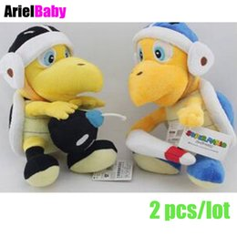 Wholesale Super Mario Boomerang - OHMETOY 2PCS Super Mario Bomb Boomerang Koopa Troopa Turtle 20cm Plush Doll Kids Toy Gift Anime Juguetes Brinquedos