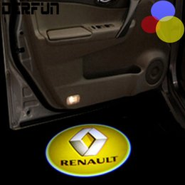 Wholesale Shadow Lights For Cars - Renault door light for many LOGO projector ghost shadow light  LED car welcome lights  laser lamp for Renault 09-16 Koleos
