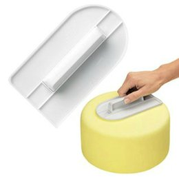 Wholesale Glide White - Wholesale- Easy-Glide Fondant Top Shaping Smoothing Tool  Cake Smoother-White decorating