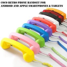 Cell phone handset online-Radiación retro Volumen del auricular ajustable Auricular del teléfono celular