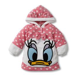 Wholesale Wholesale Soft Fleece Hoodies - Wholesale- Hot autumn winter Mickey Minnie Mouse children hoodies baby boys Girls sweatshirt Clothing Fleece kids soft warm hoody coat