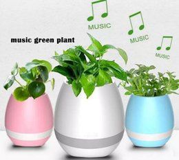 Wholesale Office Mobile - Waterproof Music Green Plant Smart Bluetooth Speaker Music Flower Pots Home Office Decoration Green Plant Music Vase Touch