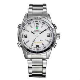 Wholesale Led Display Belt Buckles - Luxury watch LED digital display of the sport men watch quartz - core waterproof steel belt free delivery