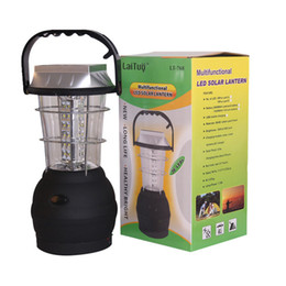 Wholesale Solar Charge Bank - Super Bright 36LED solar camping light rechargeable emergency light household Portable lantern Tent Lamps + USB Power Bank to Charge Phone