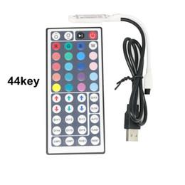 Wholesale Smd Led Dimmer - Edison2011 44 Keys LED IR RGB Mini USB Controler For RGB SMD 3528 5050 LED Strip Lights Controller IR Remote Dimmer Input DC5V