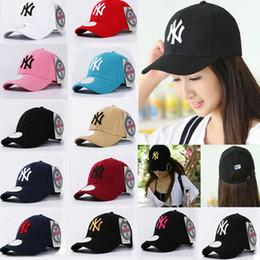 Wholesale Ny Snapback Adjustable - Baseball Cap NY Embroidery Letter Sun Hats Adjustable Snapback Hip Hop Dance Hat Fashion Outdoor Men Women Tourism Casual Caps WX-H79