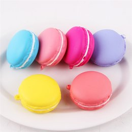 Wholesale Squishy Macaroons - DHL Free Shipping 5CM Slow Rising Squishy Charm Macaroon Kawaii Squishies Squeeze Cream Scented Decompression Toys Color Mixed