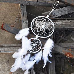Dream Catcher Decor, 2017 Creative India Style Dreamcatcher avec plume Mur suspendue Pendentif Ornement Cadeau artisanal Décoration à la maison B893Q ? partir de fabricateur