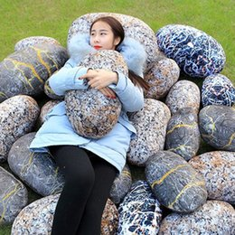 Wholesale Simulation Stone - Creative Simulation Stone Cushions Cute plush stone patterns bolsters 3styles for leaning on Cosplay props lazy sofa kids toys Kuso props