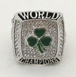 Wholesale Usa Diamond - USA Basketball Boston Championship Rings For Fans Top Quality Full Diamond Accessories Wholesale Men's Sports Ring Hot Sale