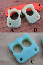 Wholesale Beautiful Weight - FR4 G10 EDC Knuckle Duster Single   Douible Finger CNC Machined 14mm Thick Strong Durable Blue Color Beautiful like Jade Light Weight