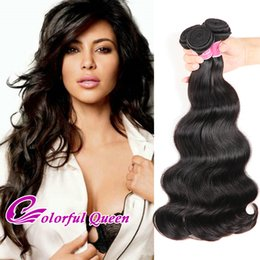 Wholesale Wavy Weave Wholesale - Brazilian Body Wave Human Hair Bundles 3 or 4pcs 7A Body Wave Hair Weaves Wet and Wavy Peruvian Malaysian Indian Virgin Hair Extensions