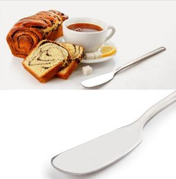 Wholesale Stainless Steel Kitchen Cutlery - Stainless Steel Utensil Cutlery Butter Knife Cheese Dessert Jam Spreader Breakfast Tool Kitchen Tableware Knives KKA2192