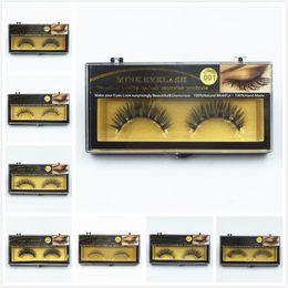 Wholesale Mink Prices - factory price #10 False Eyelashes Handmade Natural Long Thick Mink Fur Eyelashes Soft Fake Eye Lash extensions Black Terrier Strip Lashes