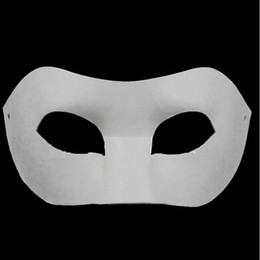 Wholesale Back Board - Drawing Board Solid White DIY Zorro Paper Mask Blank Match mask for Schools Graduation Celebration Novelty Halloween Party masquerade mask