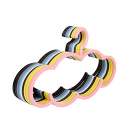 Wholesale Plastic Clothes Hangers Free Shipping - Creative Candy Color Cloud Plastic Hanger Non-slip Cute Indoor Outdoor Strong Hanger Rack 42.5cm Free Shipping ZA4044