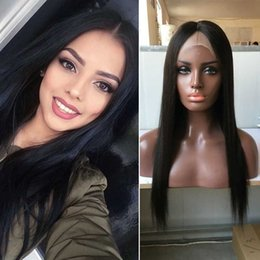 Wholesale Sale Lace Front - Full Lace Straight Wig High Ponytail Long Black Straight Full Lace Human Wigs For White Women Straight Full Lace Human Hair Wigs Sale