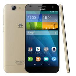 Wholesale Huawei Inch Phone - Refurbished Original Huawei Ascend G7 5.5 inch Screen EMUI 3.0 2GB RAM 16GB ROM Quad-Core Dual SIM 13.0MP Camera 4G LTE Phone Free Post