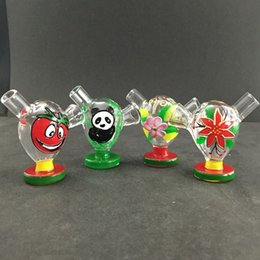 Wholesale Glass Bubbles Wholesale - Newest Import Colored Travel Mini Bongs The Martian Color Glass Blunt Bong Bubbler Joint Smoking Bubble Small Water Pipe Hand Pipe