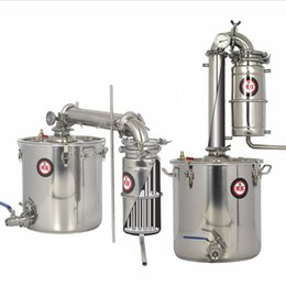 Wholesale Wine Brew - 25L 45L 65L Distiller Bar Household facilities wine limbeck distilled water baijiu large capacity vodka maker brew alcohol whisky