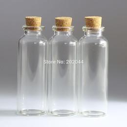 Wholesale Wholesale Tiny Glass Bottle Vials - Wholesale- 100pcs 30ml Mason Jar Glass Bottles Vials Jars With Cork Stopper Decorative Corks Tiny Mini Liquid Bottle kitchen supplies 27*79