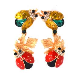 Wholesale Blue Party Powder - Women Holiday Gifts Ladybug Vintage Ladybug Design Powder Synthetic Charm Fashion Pendants Drape Jewelry Earrings Free Shipping