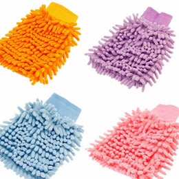 Wholesale Thick Microfiber Cleaning Cloths - Best-Selling Car Hand Soft Cleaning Towel Microfiber Chenille Washing Gloves Coral Fleece Anthozoan Car Sponge Wash Cloth Car Care Cleaning