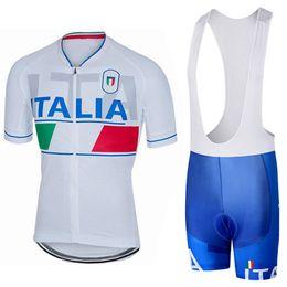 Wholesale Italia Cycling - 2017 TEAM italia cycling jersey 3D gel pad bibs shorts Ropa Ciclismo quick dry pro cycling wear mens summer bike shirt bottom
