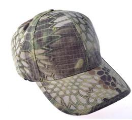 Gorras de béisbol tácticas online-Gorra de béisbol Sombrero de caza táctico Kryptek Camo Airsoft Jefe táctico Gorras ajustables senderismo ciclismo sombreros de sol Gorras tácticas sombrero de hiphop