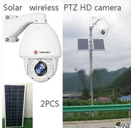 Wholesale Solar Powered Ip Camera Wireless - 2017 year hot sale,New Product IR 150M PTZ Camera Solar Power Wireless 1.3 Megapixel PTZ IP Camera auto tracking P2P,