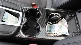 Wholesale Porsche Black - Carbon fiber Interior Middle Control Water Cup Frame Decoration Cover Trim Dome Light Panel Air Vents StripFor Porsche Macan