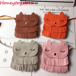 Wholesale Baby Girls Leather Handbags - Fashion Baby Leather Cute Cat Crossbody Messenger Handbags Kids Causal Flap Shoulder Bags Children Purses Feminina Bolsos