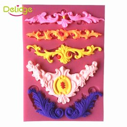 Wholesale Mold Relief - 20 PC 3D Vintage Lace Flower Cake Mold Silicone Hot European Relief Lace Mold DIY Chocolate Mold Baking Cake Decoration Tool