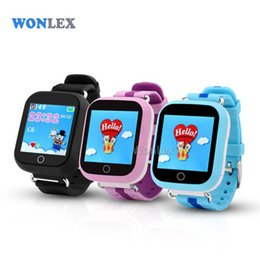 Wholesale Baby Positioning - Wholesale- Wonlex GW200S Baby GPS Watch with Wifi Positioning 1.54 Inch Color Touch Screen SOS Tracker Safe Anti-Lost Kids GPS Watch