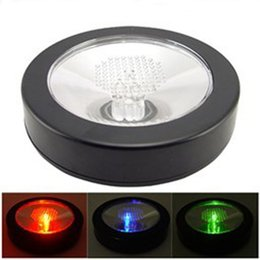 Wholesale Multi Advertising - Led Luminous Coaster Induction Round Flash Cup Pad Wine Glasses Multi Color Change Mat Advertising Bar Supplies 7 5dm F
