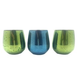 Wholesale Glasses For Cocktails - Colorful Stainless Steel Stemless Wine Goblets Cocktail Glasses Drinkware Safe Shatterproof Great for Outdoors Picnics cup KKA1878