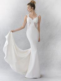Wholesale Ella Rosa Wedding Dresses - 2017 Stunning Mermaid Bridal Gown Cap Sleeves Sweetheart Neckline Satin Floral Applique Be354 F23 Ella Rosa Wedding Dress