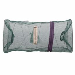 Wholesale dip nets - Hot Sale 48*22cm Folding Fishing Net Catch Crab Shrimp Minnow Fishing Bait Trap Cast Dip Net Nylon Network Cage