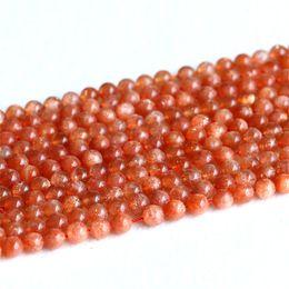 "Wholesale Orange Beads 6mm - AAA Quality Natural Genuine Orange Gold Oligoclase Sanidine Sunstone Round Loose Beads 6mm 8mm 10mm 12mm 15.5"" 05182"