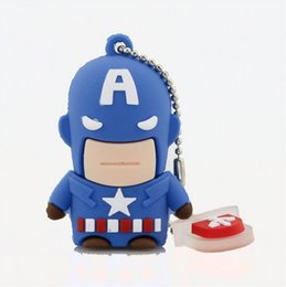 Lecteur flash usb usb à vendre-Usb Flash Drive Nouveau Pen Drive 32gb Pendrive 16gb 8gb Cartoon Superman Batman Hot Avenger Iron homme Usb 2.0 Memory Stick U Dis