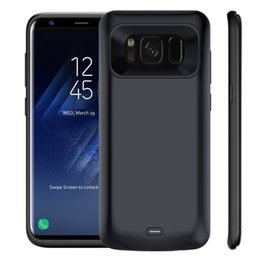 Wholesale External Backup Battery Galaxy - For Samsung Galaxy S8 Plus Battery Case Charging External Case 5000mAh Backup Pack Recharger Bank Cover with Retailpackage