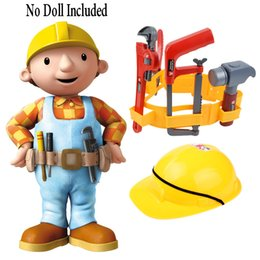 Wholesale Kids Dress Up Toys - Wholesale- Construction Worker Role Play Dress-Up Set Kids Engineer Tools Builder Pretend Play , Construction Toys for Boys Children