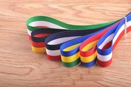 Wholesale Wholesale Braided Trim - DIY Ribbon apparel belt tripes lanyard 2.5cm polyester braid red-green-white italy flag pattern stripes ribbon customized