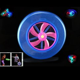 Wholesale Light Up Frisbee Wholesale - New Style Colorful Funny Colorful LED Light Up Frisbee Flying Saucer Disc Kids Toy As Children New Year Christmas Gift