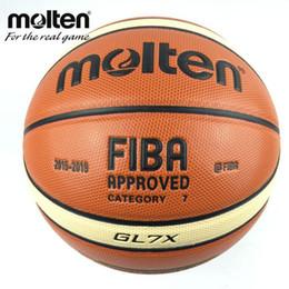 Nuova stagione 2015-2019 ufficiale originale palla di pallacanestro fusa palla GL7X NUOVO arrivo PU fuso dimensioni 7 Regali di basket ago netto da