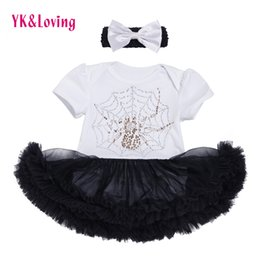 Acheter en ligne Ensembles de vêtements d'été spiderman-Summer Baby Girl Spiderman T-shirts en coton à manches courtes Tutu Jupes ensembles Car-Styling Swan Bow Kid Rompers Cartoon Girls Childern Clothing