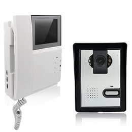Wholesale Doorbell Intercom Vision - handset video door phone doorbell intercome system 700 line camera infrared night vision 4.3 inch screen and intercom systerm