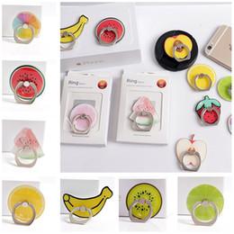 apfel handy fingerhalter Rabatt Handyhalterung Handyhalter Fingerring Sommer Kreatives Fruchtdesign Smartphone Ständer für iPhone Samsung