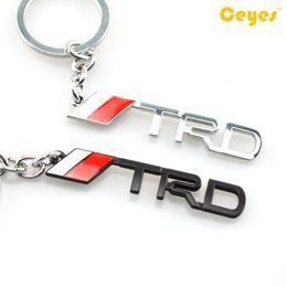 Wholesale Auto Key Logo - Car keyrings auto logo TRD emblem badge for toyota corolla avalon camry echo prius supra Keychain key holder